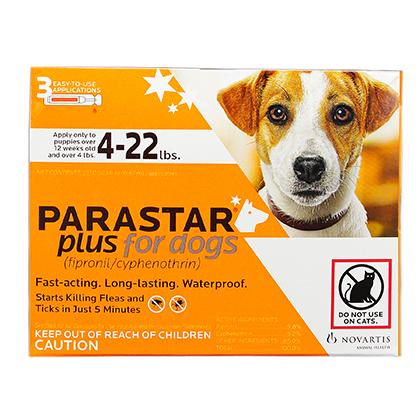 Parastar Plus for Dogs | Treats Flea Tick Lice & Mites ...