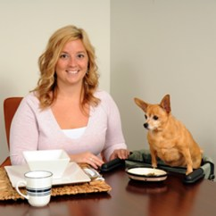 Dog High Chair Wooden Leather Desk Lets Your Eat At The Table With You 1800petmeds