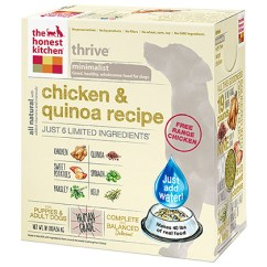 The Honest Kitchen Can Lights In Thrive Chicken Quinoa Dehydrated Dog Food