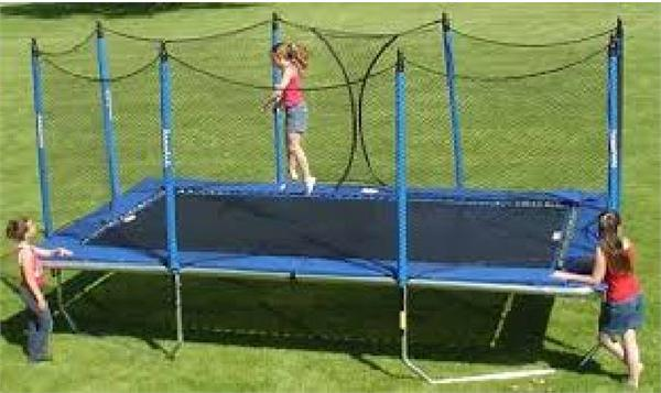 10x17 All American Rectangle Trampoline with Enclosure