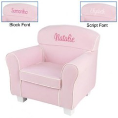 Pink Slipcover Chair Ottoman Combo Personalized Laguna With Slip Cover