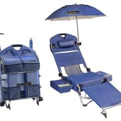 Beach Chairs On Wheels Wheelchair Jimmy Two Lounge Pac With Umbrella