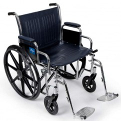 Bariatric Transport Chair 500 Lbs How To Install Rail Tile Medline Excel Extra Wide Manual Wheelchairs 1800wheelchair Com Freegift1 Wheelchair