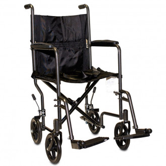 transport wheel chair dining chairs under 100 probasics steel wheelchair 1800wheelchair com