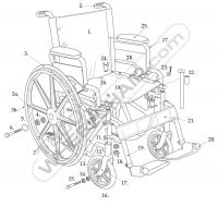 Parts for Drive Manual Wheelchairs