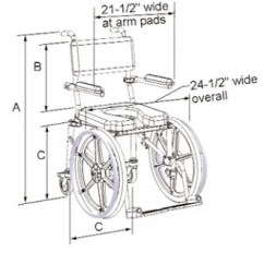 Drive Shower Chair Parts Collapsible Wooden Plans Multichair Ultra Narrow Shower/commode Wheelchair