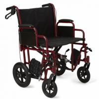 """Medline Bariatric Transport Chair w/ 12"""" Rear Wheels"""