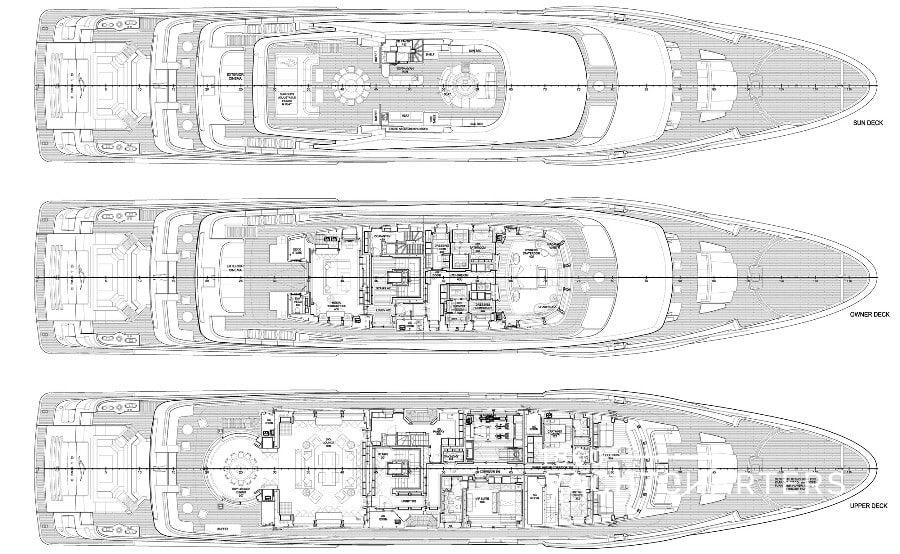 Mega Yacht Deck Plans