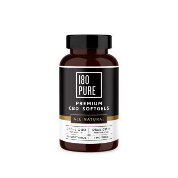 180Pure Premium CBD Softgels All Natural