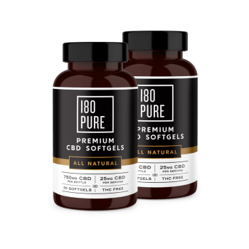 180 Pure Premium CBD Softgels All Natural Bundle