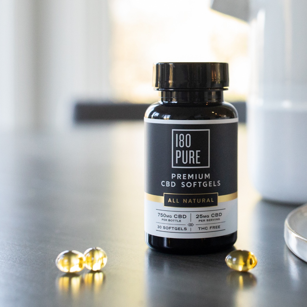 180Pure CBD Softgels in Robbins