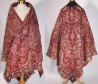 Exquisite Antique Victorian Kashmir Hand Woven Embroidered