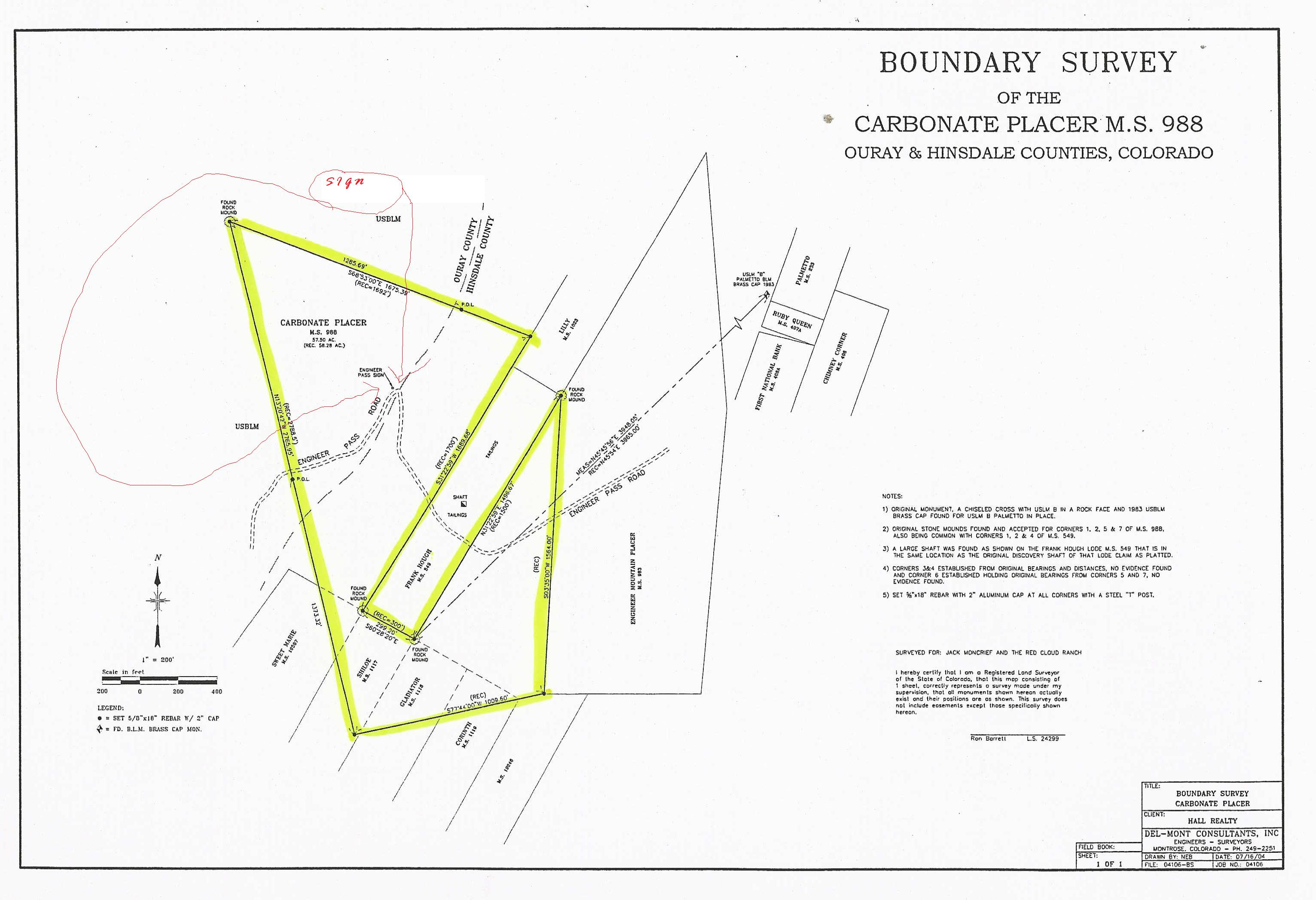 Lake city and Hinsdale County Colorado Land for sale