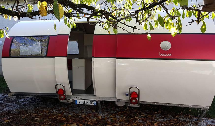 Une caravane qui change de taille  Partir en vacances  une caravane modulable  18h39fr