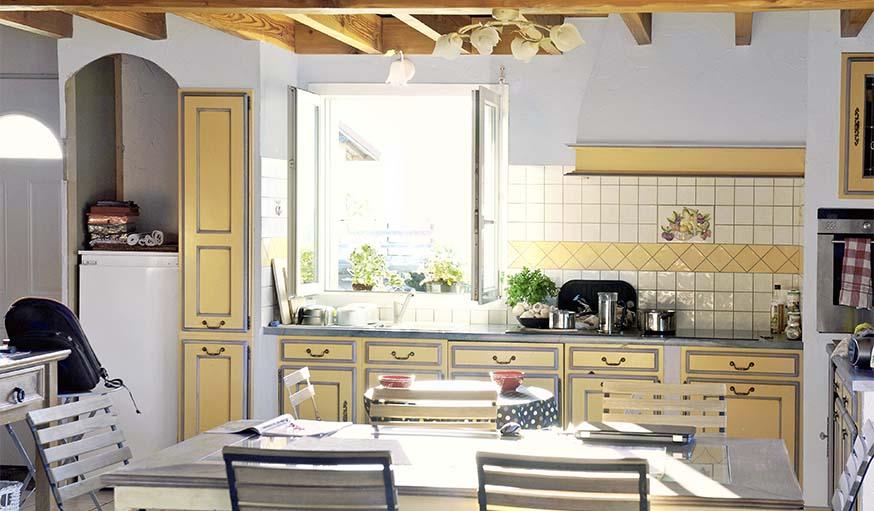 repeindre meuble cuisine laqué