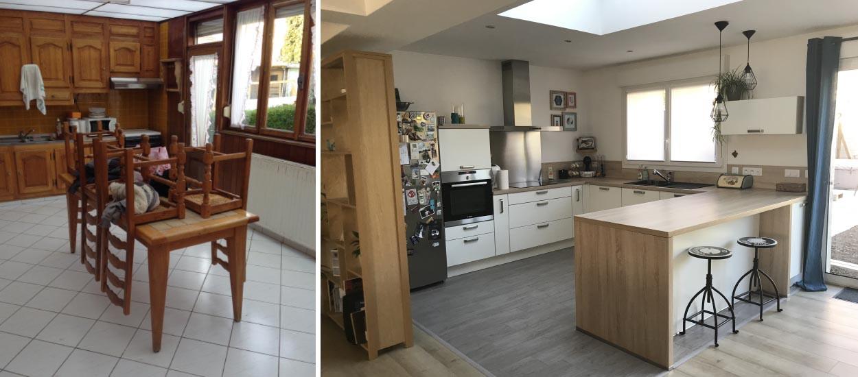 cuisine ouverte dans une extension