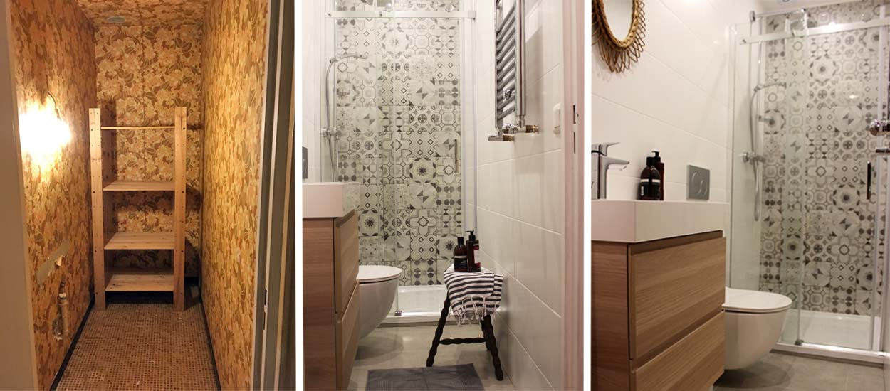 cagibi de 2 m2 en salle de bains design