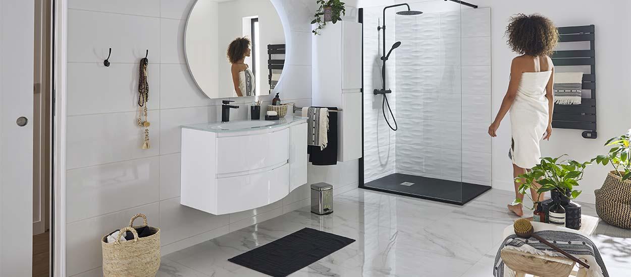 inspiration deco le noir et blanc pour la salle de bains en 16 photos
