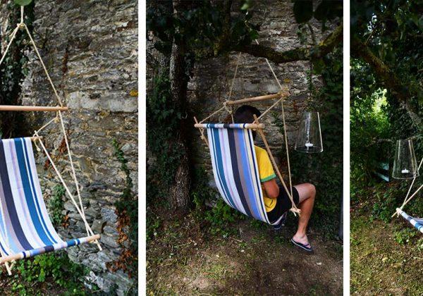 fauteuil suspendu type hamac pour le jardin