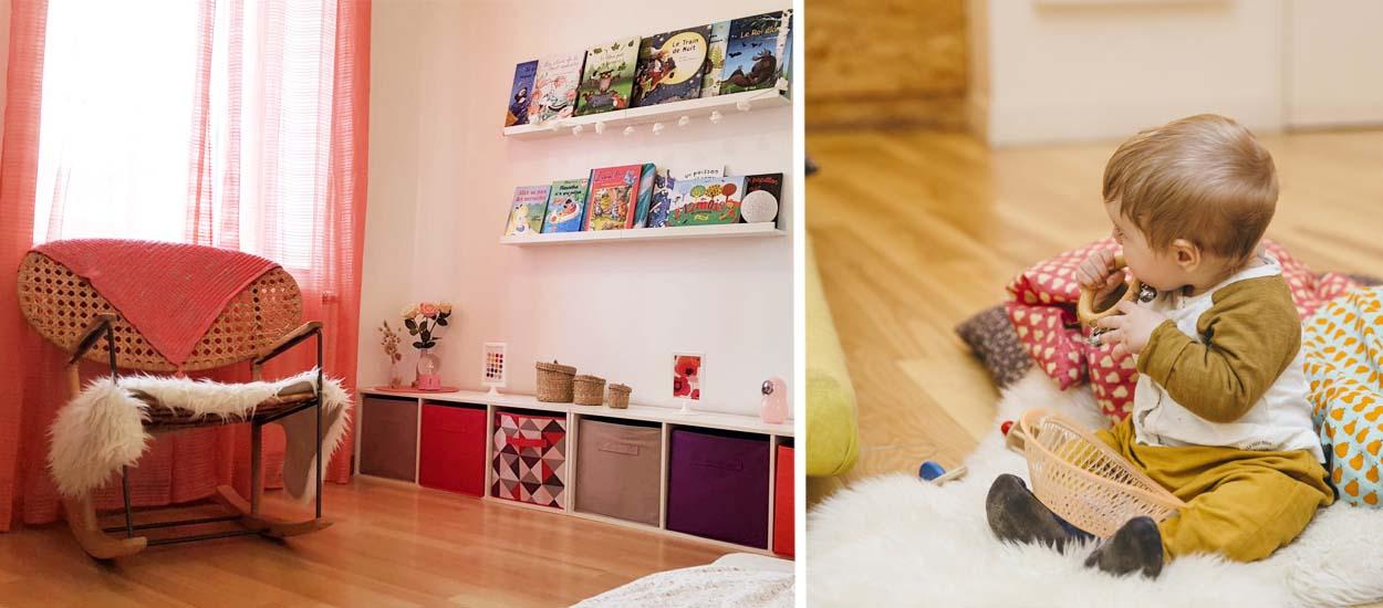une chambre bebe montessori