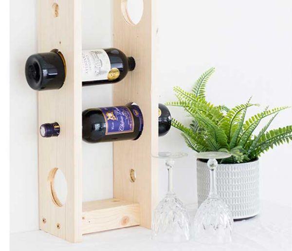 realisez un casier a bouteilles pour