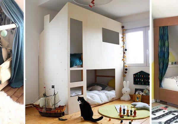 lit cabane dans chambre d enfant