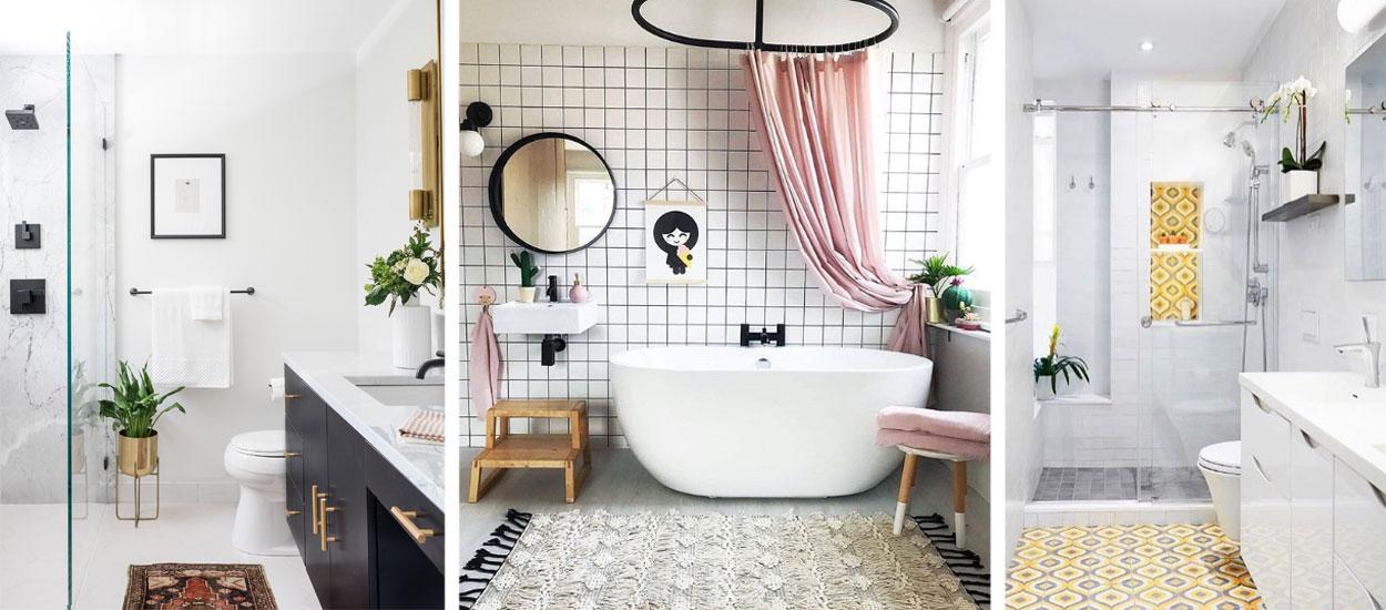 salle de bains blanche