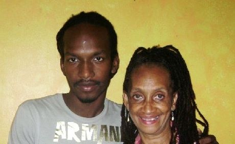 J.O.E. and his mother
