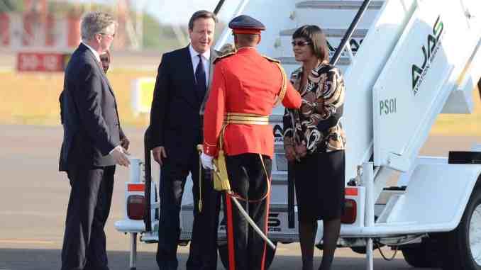 David Cameron & Portia Simpson