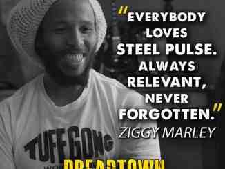 Ziggy Marley showing love to Steel Pulse