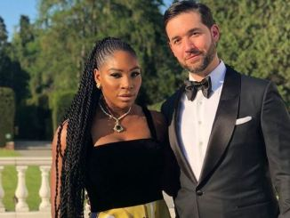 Serena Williams and Alexis Ahanian
