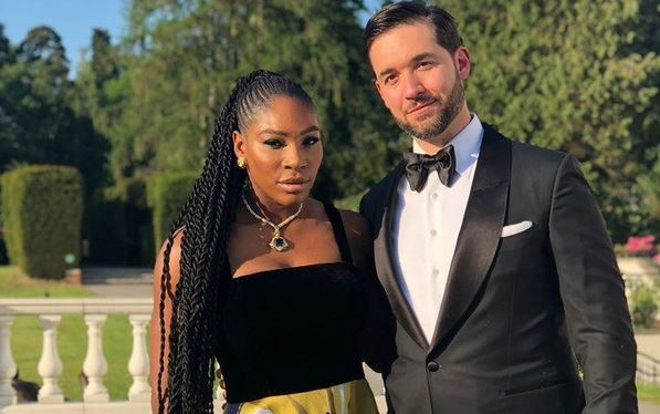 Serena Williams and Alexis Ahanian