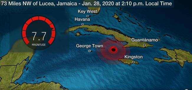 Earthquake in Jamaica