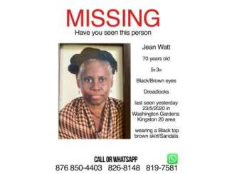 Bunny Wailer's wife is missing