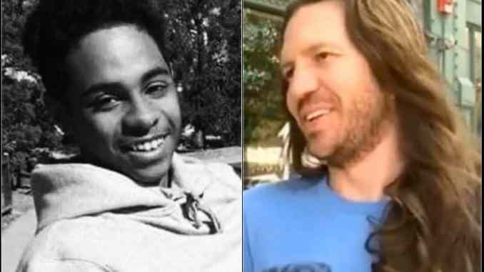 Jacob Gardner (right) killed innocent Black man James Scurlock on the left.