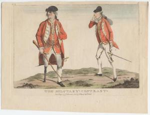 The military contrast, print from 1773