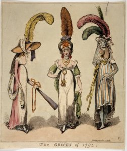 The Graces of 1794. Issac Cruikshank. British Museum.