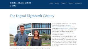 The Digital Eighteenth Century