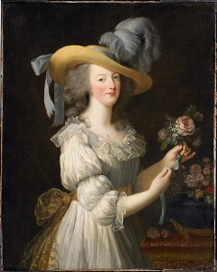 women s lives in the th century archives the th century common figure 2 atilde137lisabeth vigatildecopye le brun marie antoinette in a chemise dress 1783 hessische hausstiftung the hessian house foundation kronberg