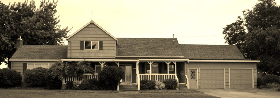 Our farmhouse before we moved in