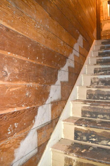 Finding the original steep stairs in our 1905 farmhouse
