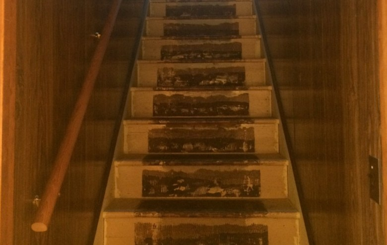 How to transform a wood paneled stairwell