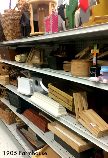 Wood furnishings at a thrift store, a great aisle for a DIY'er