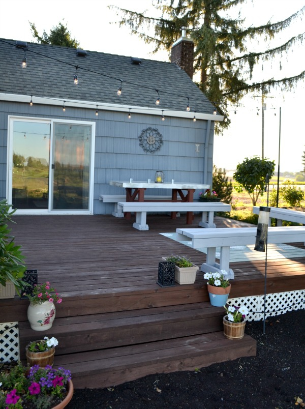 Outdoor deck space makeover
