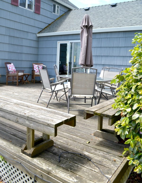 Deck before makeover