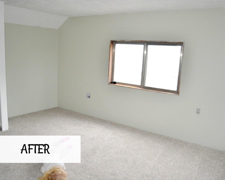 Bedroom update including new drywall and carpet