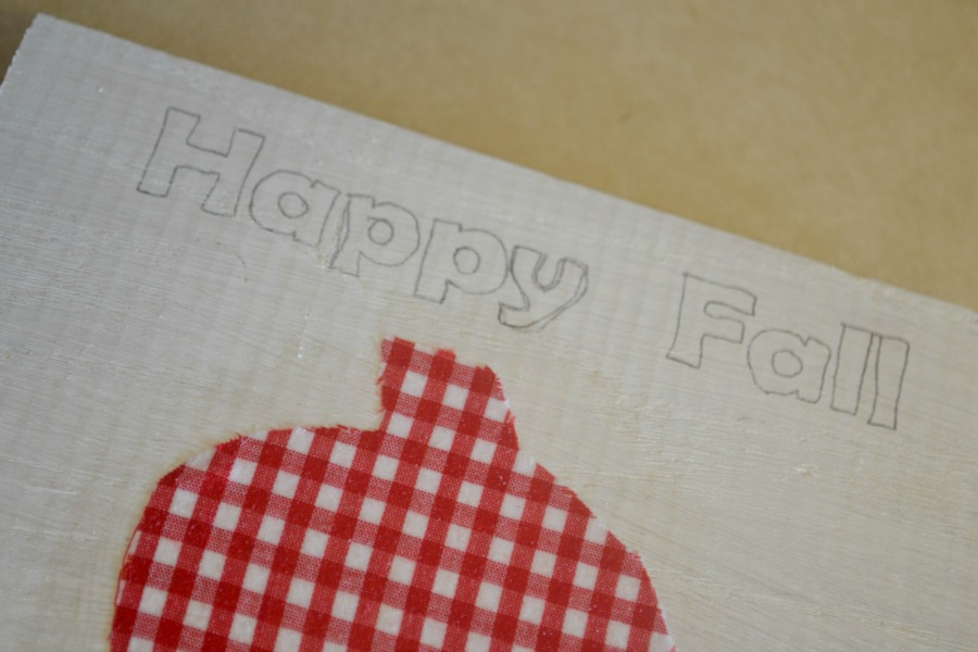 Tracing paper was used to apply wording to wood signs