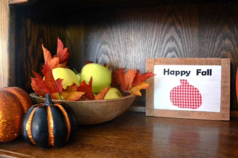 Fall decor including fresh apples from our orchard