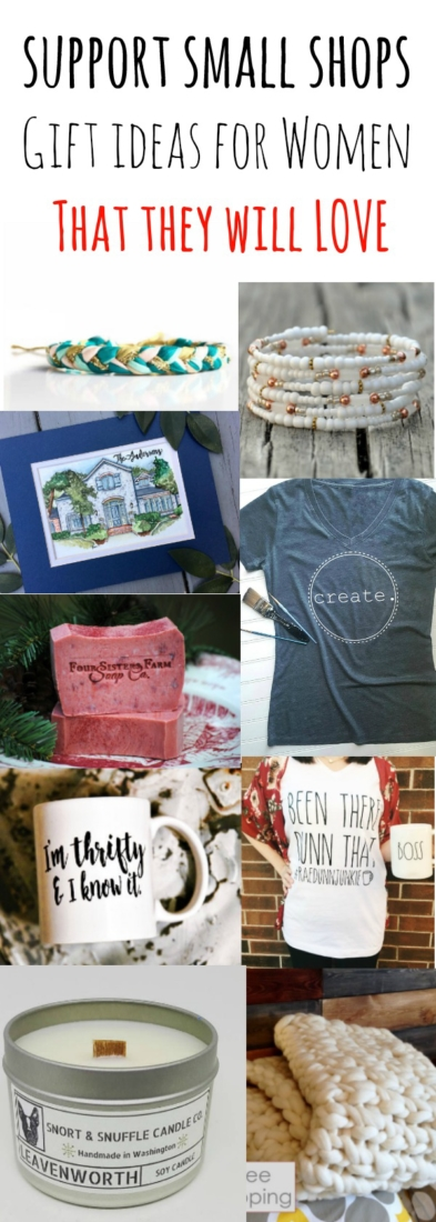 Gift ideas that any woman would love and support small shops at the same time