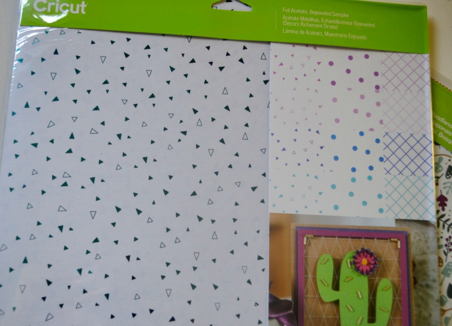 Foil acetate sheets were part of the Cricut Mystery Box